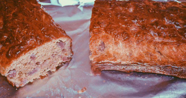 Cake salé moelleux aux lardons