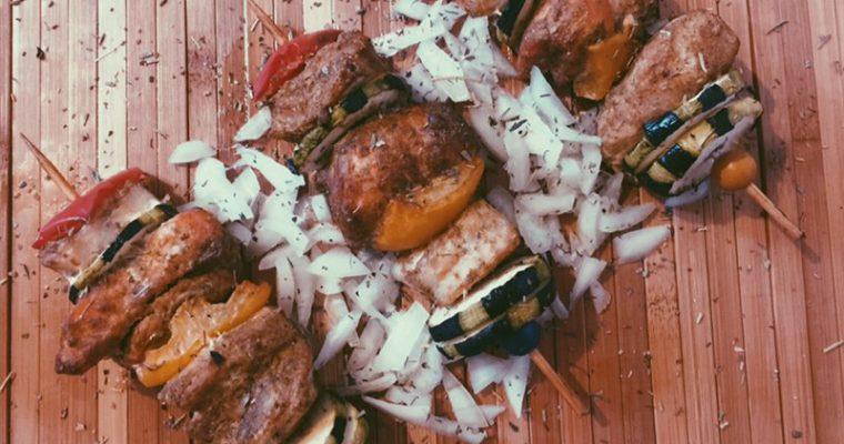Brochettes de poissons au four